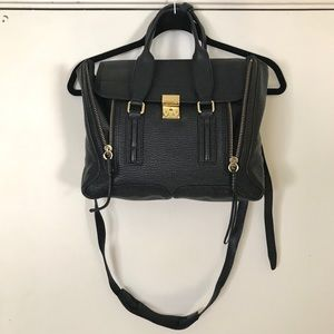3.1 Phillip Lim Black Pashli Medium Satchel Bag